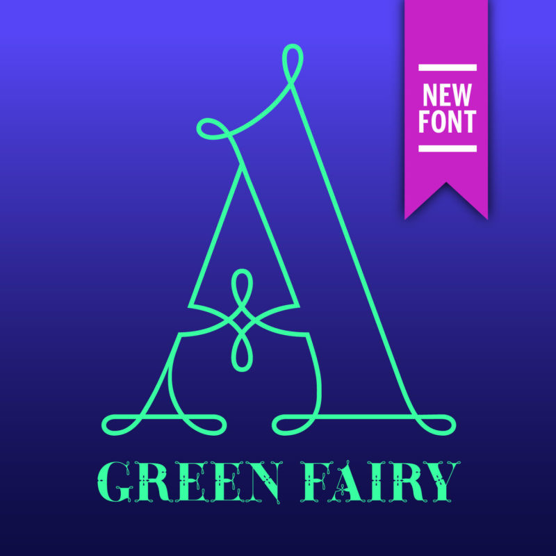 Green Fairy | Display Chromatic Font Family