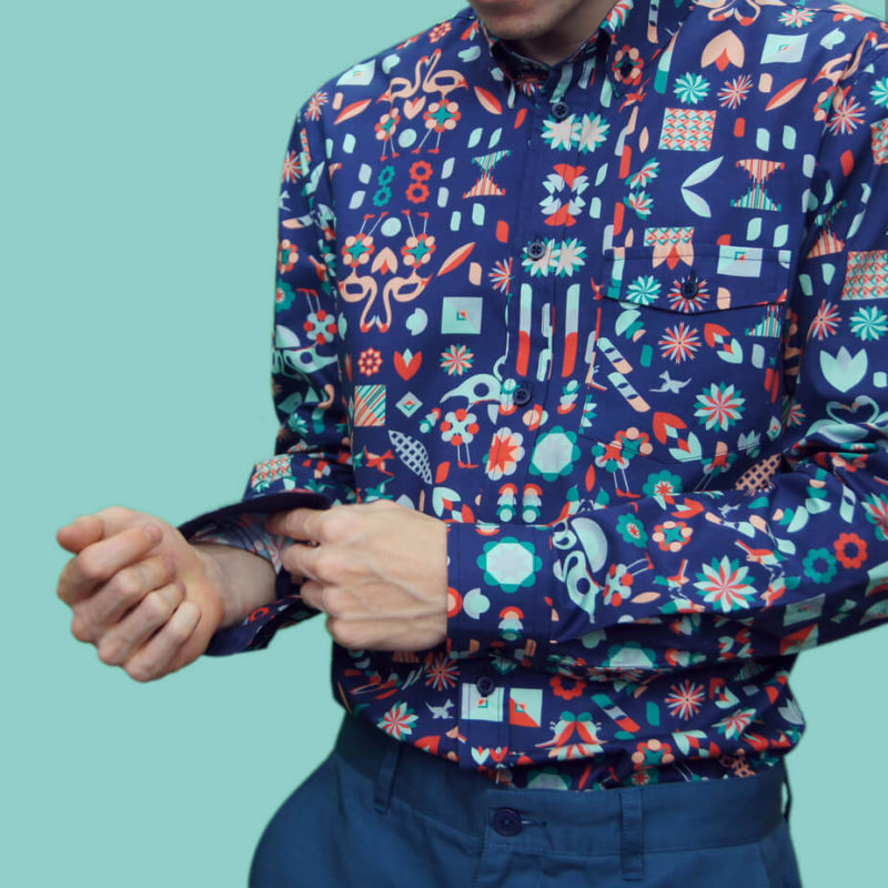 Flamingo Print Menswear