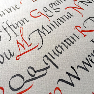 Italic Calligraphy in France