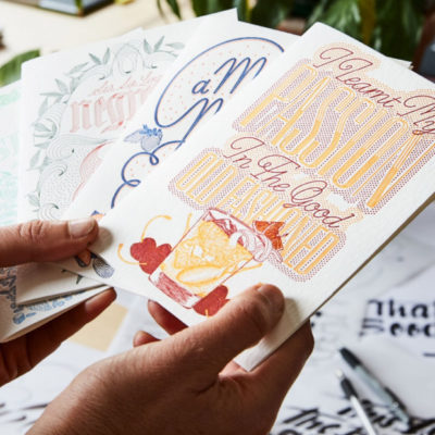 Letterpressed Cocktail Cards