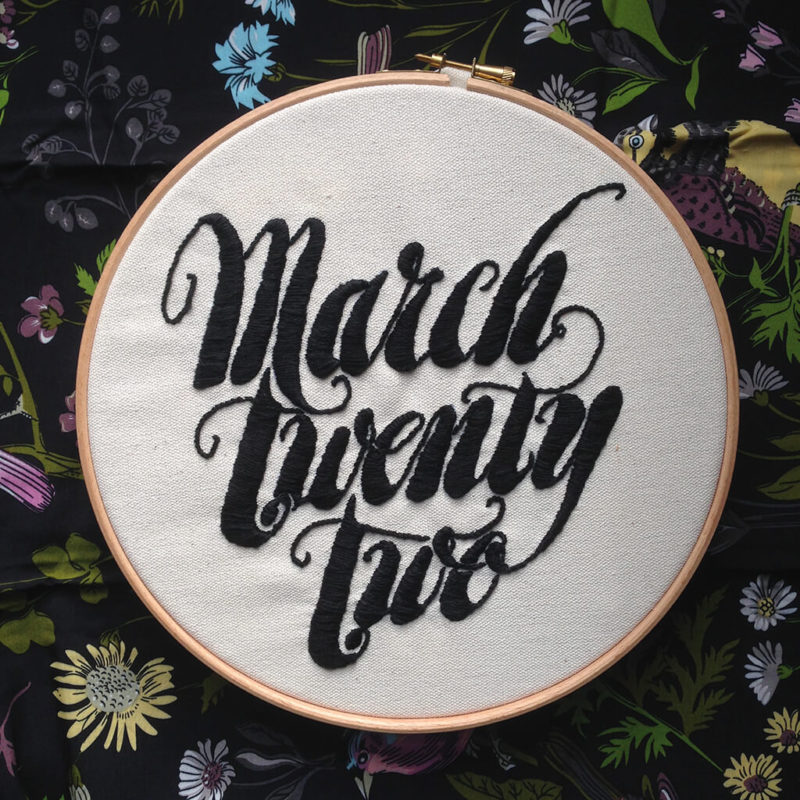 MarchTwentyTwo | Embroidered Logotype