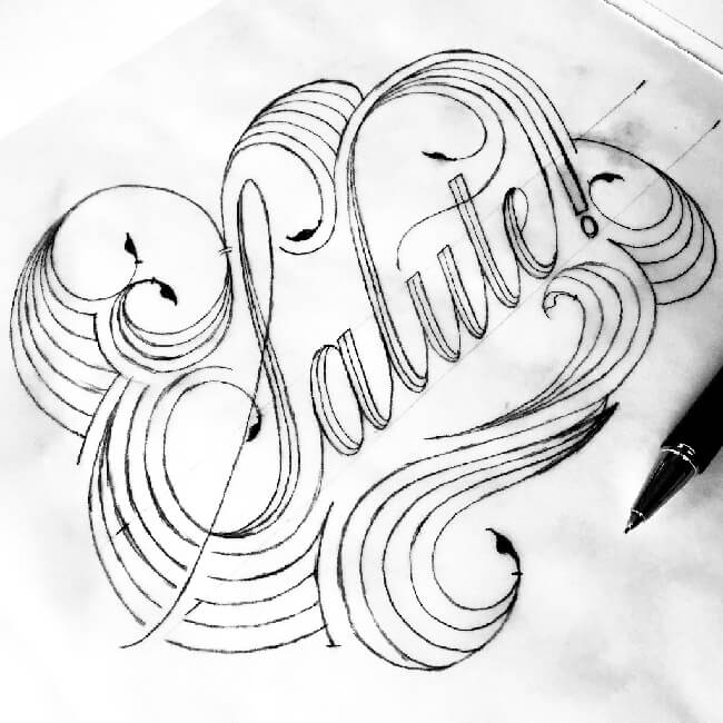 Following The Italian Theme I Wanted To Introduce An Word That Could Be Easily Understood In English So Chose Salute This Lettering Has Been