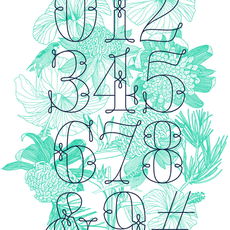 Numbers and Nature in Action | Mural