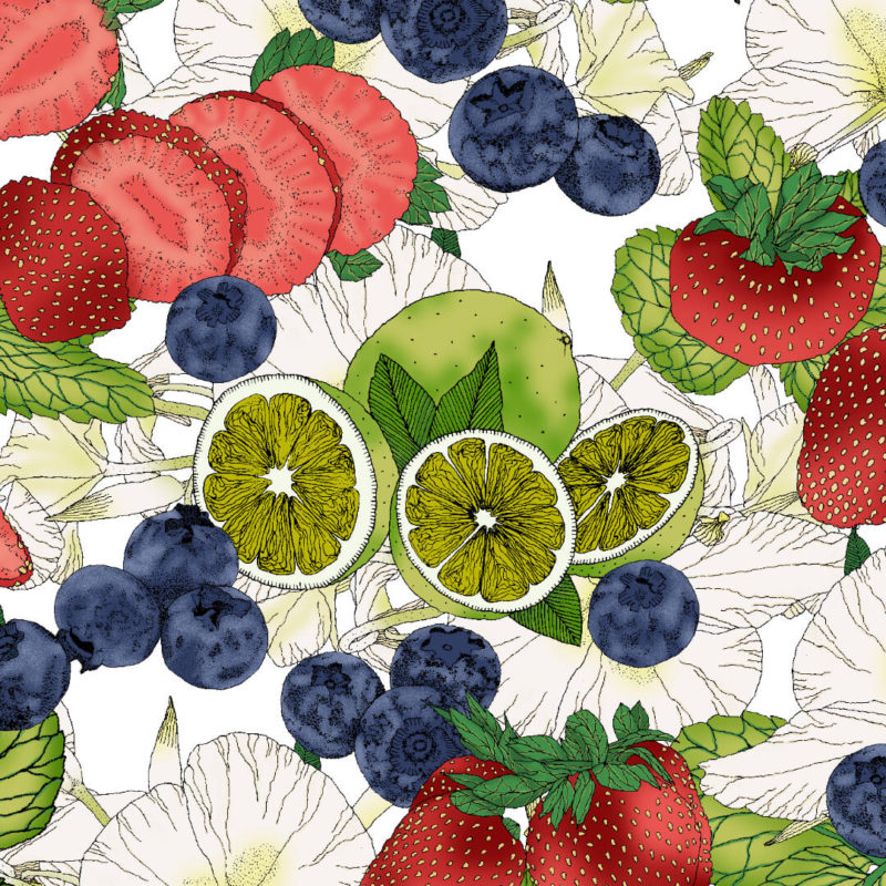 Strawberry Mojito | Pattern Print