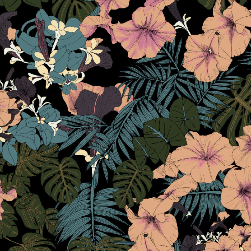Tropical Forest Print | Scarf Design