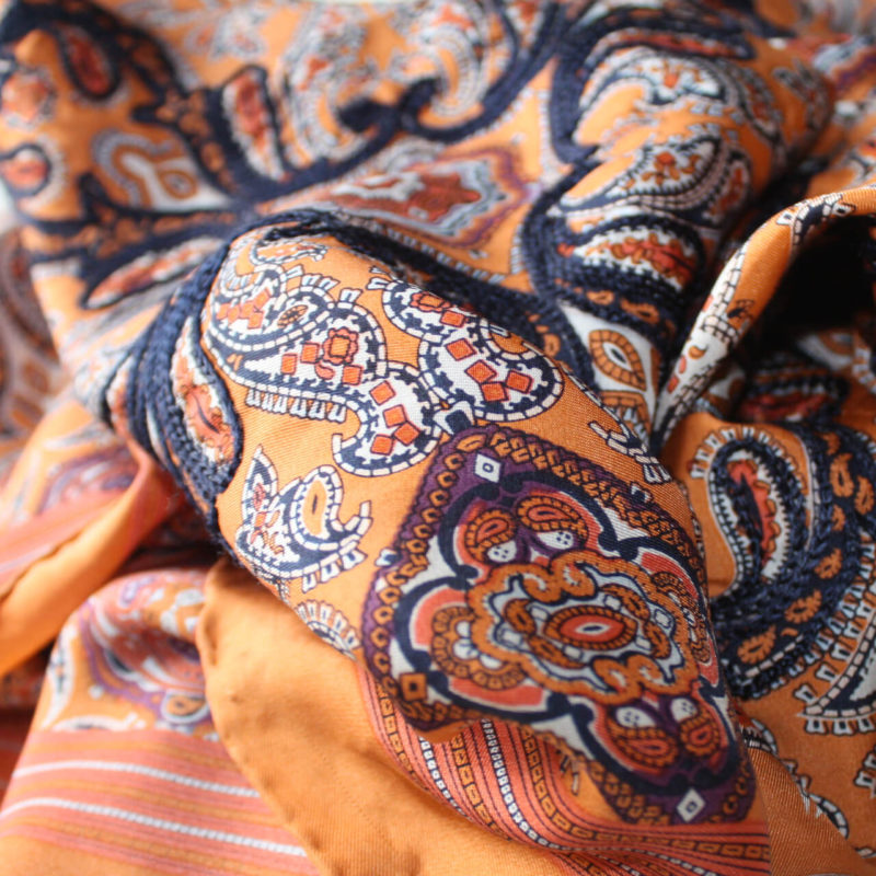 Embroidered Silk | Scarf Design